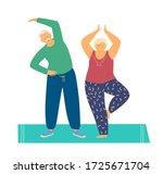 smiling elderly couple... | Shutterstock .eps vector #1725671704