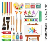 painting supplies  digital clip ... | Shutterstock .eps vector #1725675784