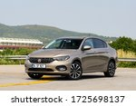 Small photo of ISTANBUL-MAY, 8 2020: Fiat Tipo is a compact family sedan car. It is also known as the Fiat Egea in Turkey and Dodge Neon in Mexico and Middle East.