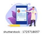 medical record  online doctor... | Shutterstock . vector #1725718057