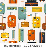 colorful travel bags seamless...   Shutterstock .eps vector #1725732934
