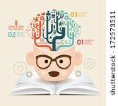 book diagram creative paper cut ... | Shutterstock .eps vector #172573511