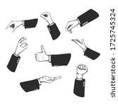 vector hand drawn hands ... | Shutterstock .eps vector #1725745324