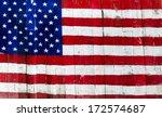 Usa  American Flag Painted On...