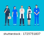 set of medical workers. medical ... | Shutterstock .eps vector #1725751837