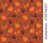 funky tropical vector seamless... | Shutterstock .eps vector #1725756157