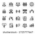 meeting icons. conference ... | Shutterstock .eps vector #1725777667