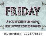 retro typography  typeface... | Shutterstock .eps vector #1725778684