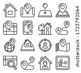 maps and home location icons... | Shutterstock .eps vector #1725792064
