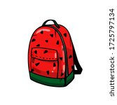 colorful backpack with... | Shutterstock .eps vector #1725797134