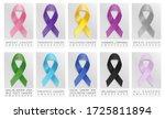 set of realistic awareness... | Shutterstock .eps vector #1725811894