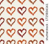 cute heart seamless pattern on... | Shutterstock .eps vector #1725836161