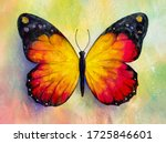 Painting Of Bright Butterfly...