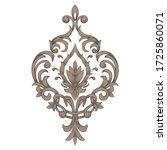 vector damask element. isolated ... | Shutterstock .eps vector #1725860071