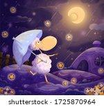 """digital illustration """"starfall...   Shutterstock . vector #1725870964"""