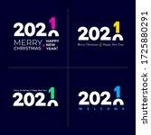 set of happy new year 2021.... | Shutterstock .eps vector #1725880291