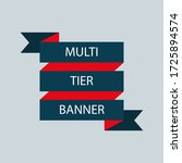 retro ribbon banner vector... | Shutterstock .eps vector #1725894574