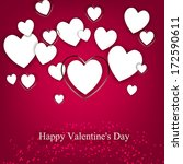 happy valentine's day hand... | Shutterstock .eps vector #172590611