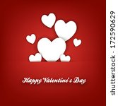 happy valentine's day hand... | Shutterstock .eps vector #172590629