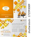 orange template for advertising ... | Shutterstock .eps vector #172593089