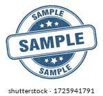 sample stamp. sample round...   Shutterstock .eps vector #1725941791