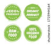organic healthy vegan food... | Shutterstock .eps vector #1725944164