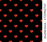 vector black seamless pattern... | Shutterstock .eps vector #1725962737