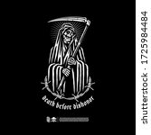 reaper with the words death... | Shutterstock .eps vector #1725984484