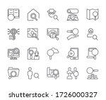set of find related vector line ... | Shutterstock .eps vector #1726000327