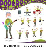 a set of old men wearing mask...   Shutterstock .eps vector #1726001311