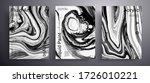 abstract liquid placard  fluid... | Shutterstock .eps vector #1726010221