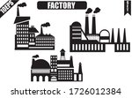 factory icon. set of the... | Shutterstock .eps vector #1726012384