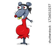 cartoon character based on rat...   Shutterstock .eps vector #1726013257