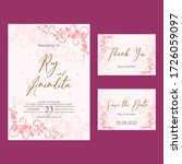 floral wedding invitation... | Shutterstock .eps vector #1726059097