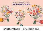 artistic floral design of happy ... | Shutterstock .eps vector #1726084561