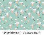 mushroom seamless vector... | Shutterstock .eps vector #1726085074
