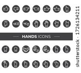 hand icons that can be used in... | Shutterstock .eps vector #1726134211