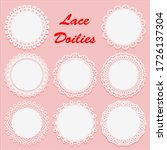 set of decorative white lace... | Shutterstock .eps vector #1726137304