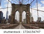 Empty Brooklyn Bridge During...