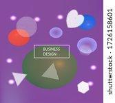 modern blurry smooth background.... | Shutterstock .eps vector #1726158601