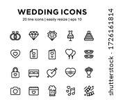 set of wedding line icons ...   Shutterstock .eps vector #1726161814