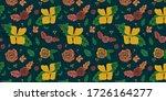 floral pattern design.... | Shutterstock .eps vector #1726164277