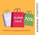 super sale vector concept ... | Shutterstock .eps vector #1726175377