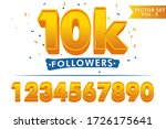 set of numbers for thanks... | Shutterstock .eps vector #1726175641