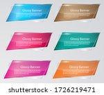 glossy banner  glass banner... | Shutterstock .eps vector #1726219471