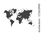 world map  | Shutterstock . vector #172623905