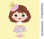 Cute Girl In Rainbow Dress
