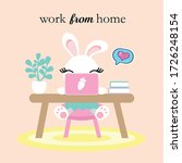 corona virus kids cartoon work... | Shutterstock .eps vector #1726248154