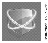 3d transparent shield icon with ...   Shutterstock . vector #1726277344