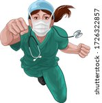 a super hero woman doctor or... | Shutterstock .eps vector #1726322857
